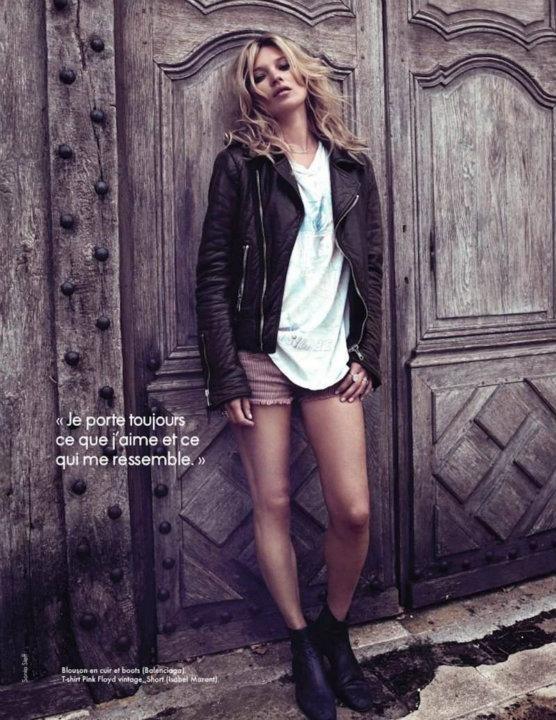 Съемка: Кейт Мосс для Elle Франция. Изображение № 1.