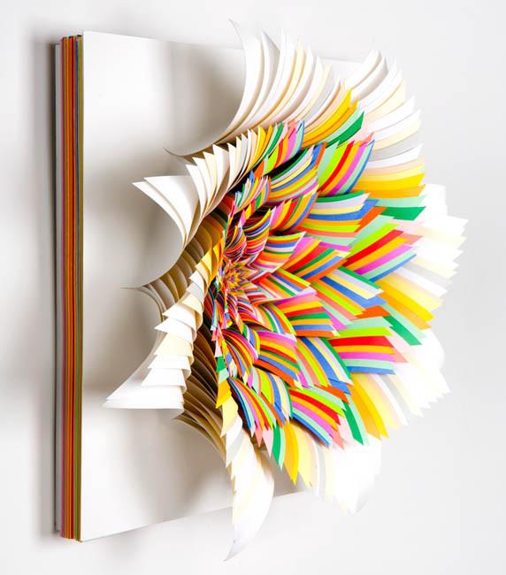 Объемные скульптуры из бумаги Jen Stark. Изображение № 7.