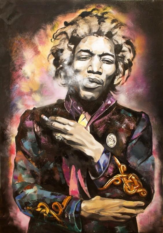 Jimi Hendrix Холст,масло Размер-60/90. Изображение №7.