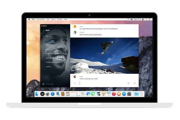 Соучредители Skype выпустили мессенджер Wire. Изображение № 1.