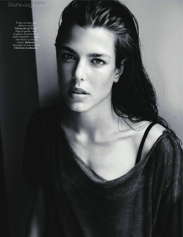 Для обложки сентябрьского номера французского Vogue снялась Шарлотта Казираги. Изображение № 4.