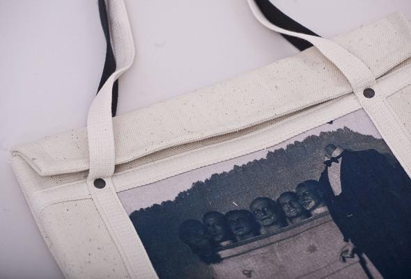 БЕЛОЕ — рюкзаки и сумки из грубого белого хлопка. Изображение № 12.