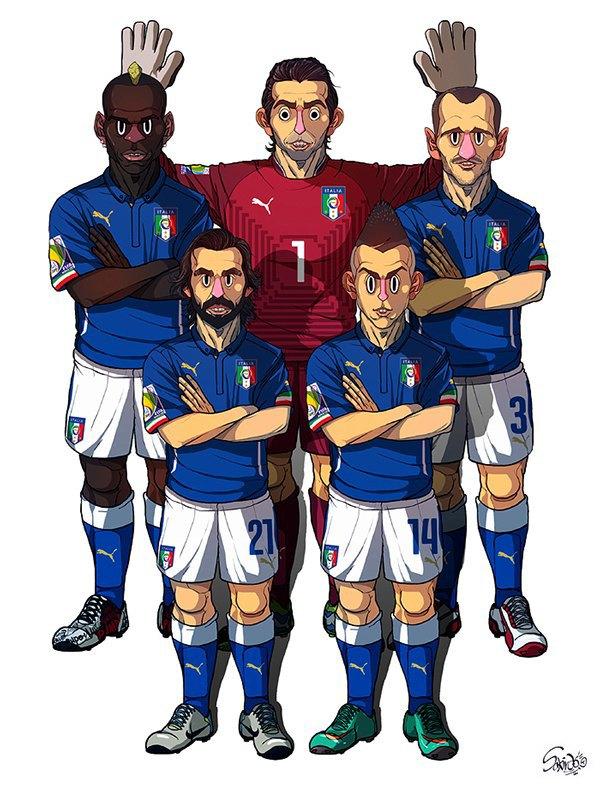 Иллюстратор нарисовал все 32 команды ЧM по футболу . Изображение № 5.
