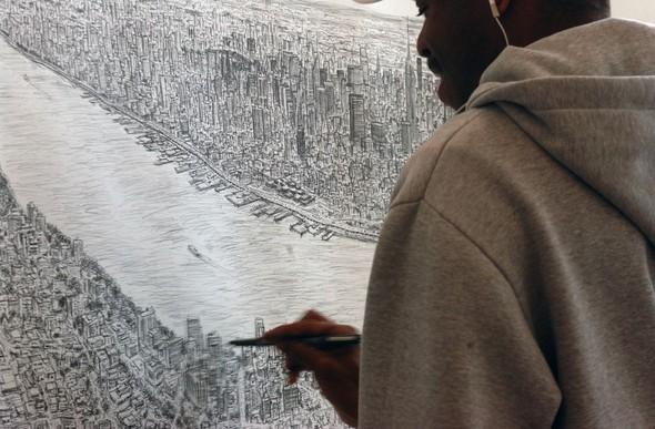 Стивен Вилтшер. Художник рисующий панорамы городов по памяти. Изображение №2.