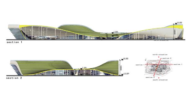 Архитектура дня: объединённые водно целое 4павильона. Изображение № 9.