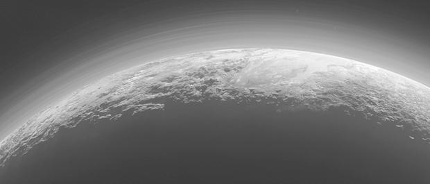 New Horizons снял панораму гор иледников Плутона. Изображение № 1.