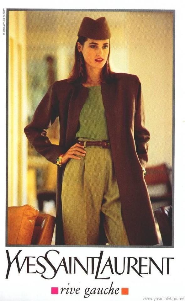 Архивная съёмка: Рекламная кампания Yves Saint Laurent SS 1991. Изображение № 4.