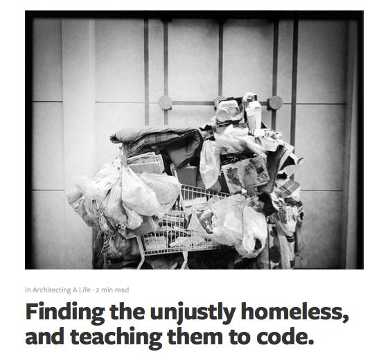 Нью-йоркский инженер планирует обучать бездомных кодингу. Изображение № 1.