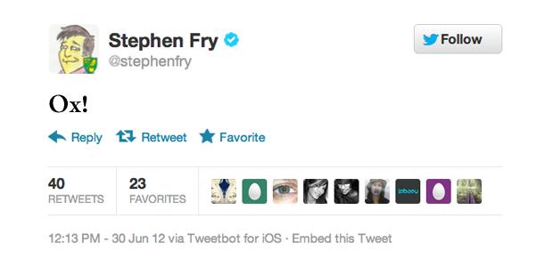 Стивен Фрай, актер и писатель. Изображение № 7.