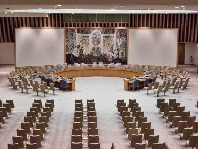 Зал Совета безопасности ООН в 2012 году. Изображение № 1.