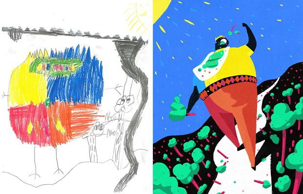 Художники создали монстров наоснове детских рисунков. Изображение № 25.