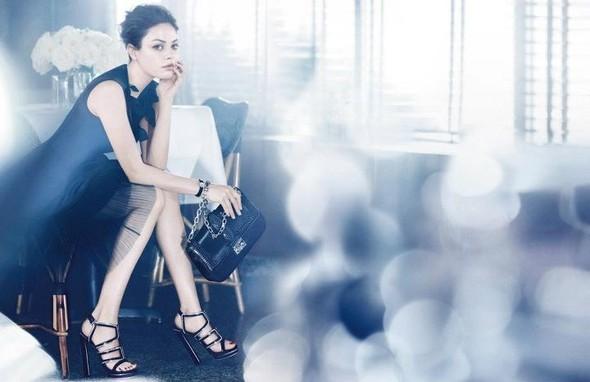 Кампания: Мила Кунис для Miss Dior Handbags SS 2012. Изображение № 3.