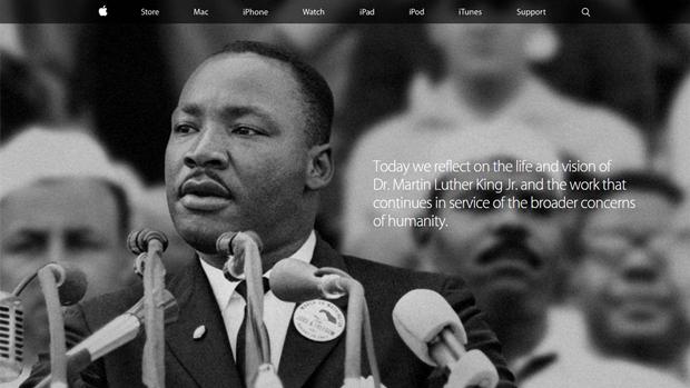 Apple вывесила страницу памяти Мартина Лютера Кинга. Изображение № 1.