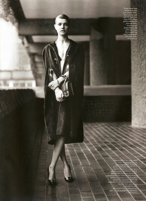 Съёмка: Наталья Водянова в Gucci для Love. Изображение № 8.