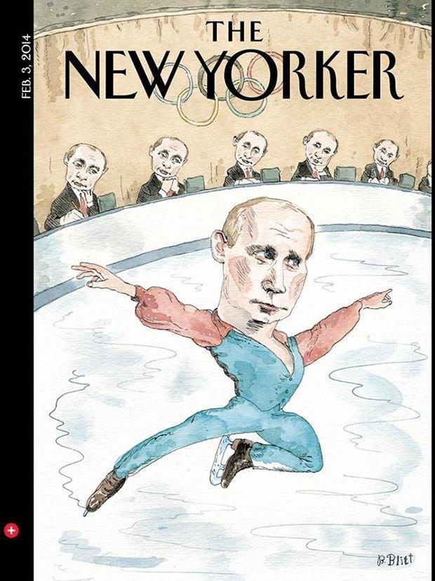 Путин стал фигуристом на обложке The New Yorker. Изображение № 1.