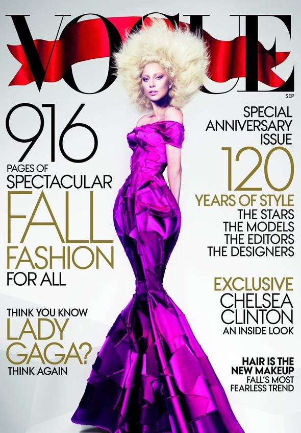Леди Гага на обложке сентябрьского Vogue. Изображение № 1.