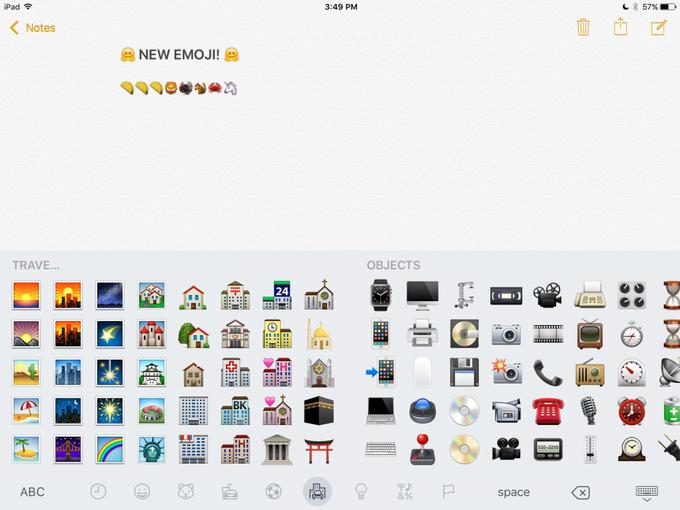 В iOS 9.1 появятся новые эмодзи . Изображение № 8.