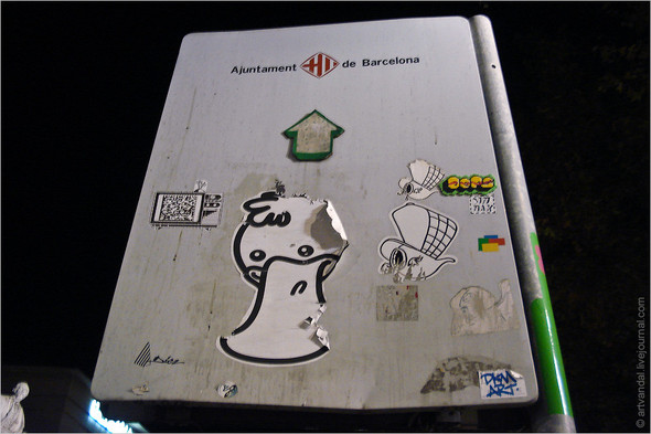Стрит-арт и граффити Барселоны, Испания. Изображение № 23.