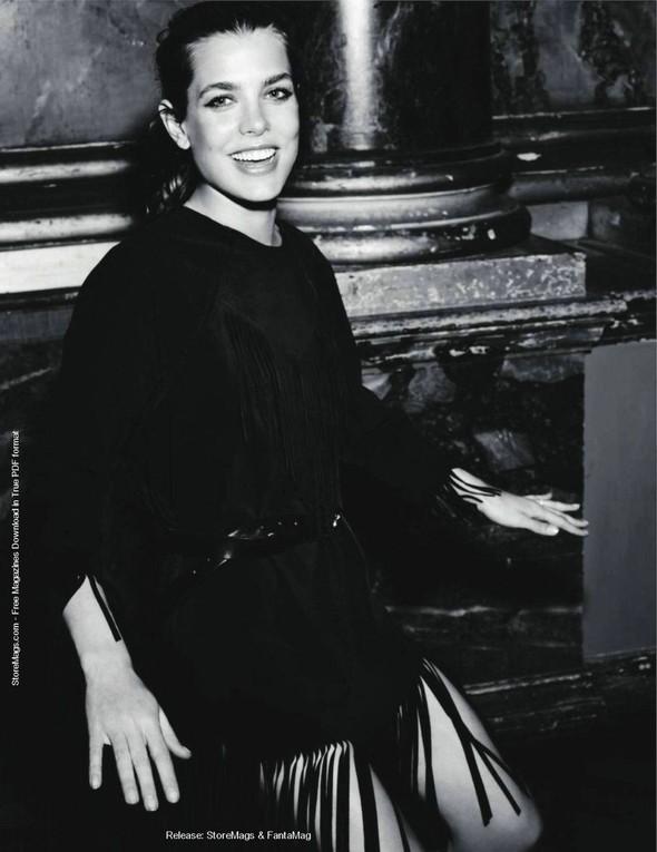Для обложки сентябрьского номера французского Vogue снялась Шарлотта Казираги. Изображение № 7.
