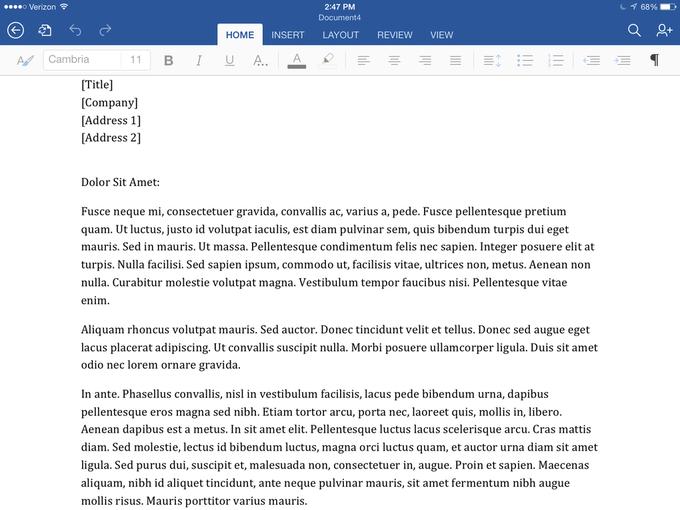 Microsoft выпустила Office для iPad . Изображение № 2.