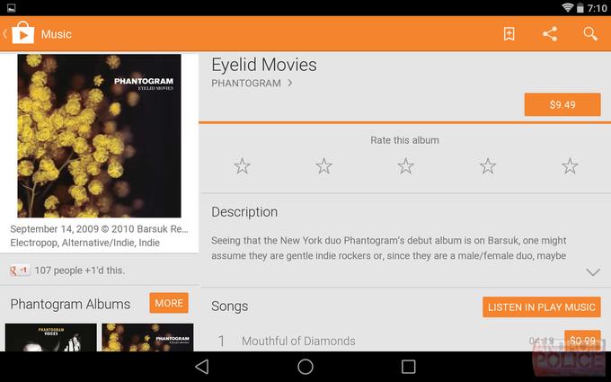 Текущий интерфейс Google Play для планшетов. Изображение № 5.
