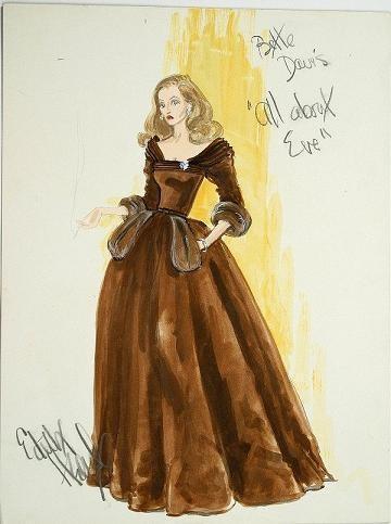 """Эскиз костюма Бетт Дэвис/ """"Все о Еве"""". Изображение № 16."""
