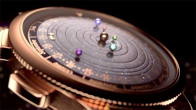 Часы Planetarium показывают движение Солнечной системы. Изображение № 2.
