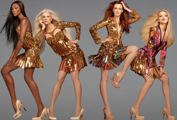 Кампания: Дафне, Наоми, Карен и Кристен для Roberto Cavalli SS 2012. Изображение № 1.