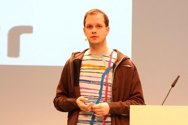 Петер Сунде на конференции Next в 2010 году (Берлин). Изображение № 1.