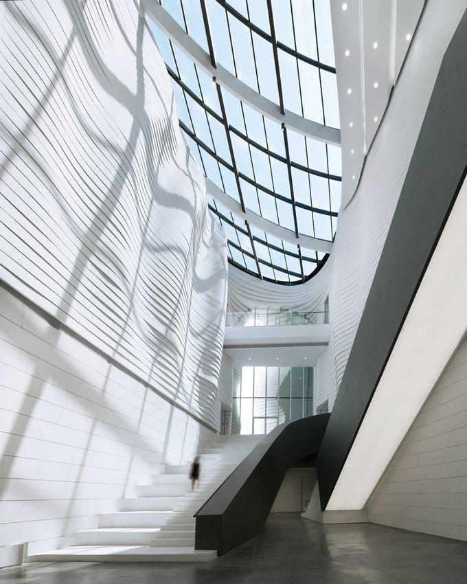 Архитектура дня: музей в Китае сбелым «слоёным» фасадом. Изображение № 8.