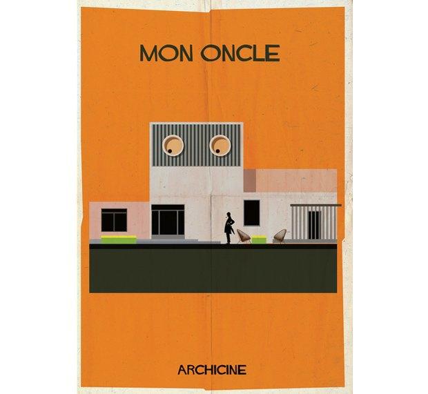 Художник нарисовал архитектурные постеры классических фильмов. Изображение № 1.