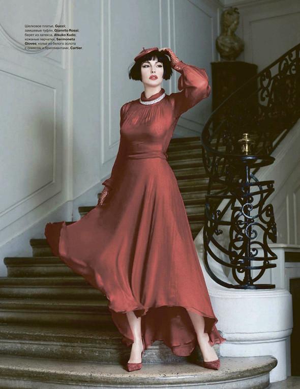 Моника Беллуччи (Monica Bellucci) в декабрьском Tatler Russia. Изображение № 5.