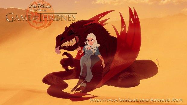 «Игру престолов» превратили в мультфильм Disney. Изображение № 1.
