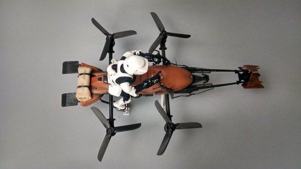 Летающий мотоцикл из Star Wars превратили в дрон. Изображение № 5.
