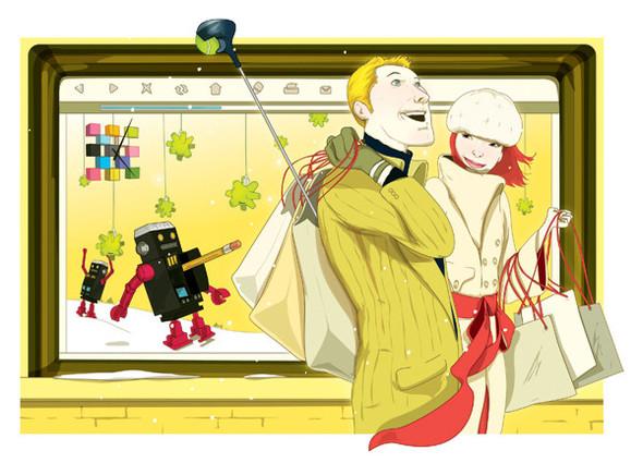 Рисунки американского иллюстратора Марко Шина.. Изображение № 30.