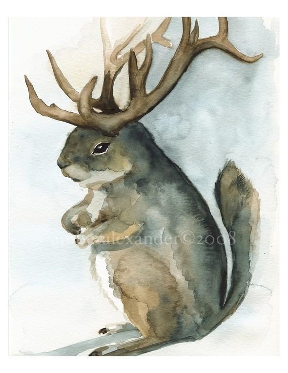 Изображение 49. Amber Alexander - животные, сияющие акварелью.. Изображение № 47.