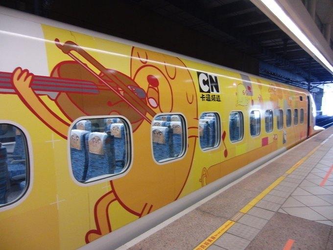 На Тайване запустили поезд в виде Джейка из «Времени приключений». Изображение № 8.