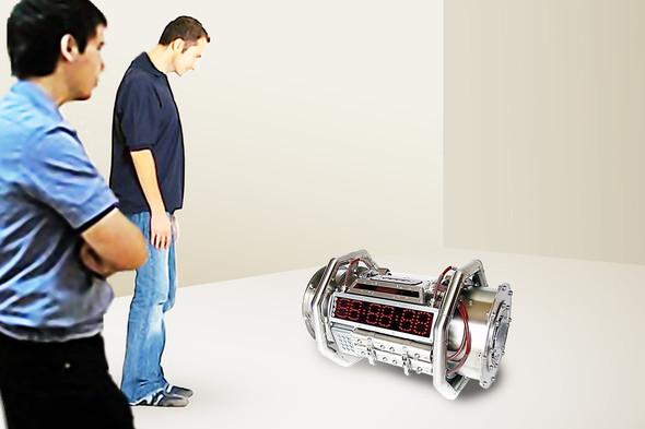 Reset. Материал: металл, электронные системы контроля, импульсные лампы, акустические колонки.. Изображение №1.