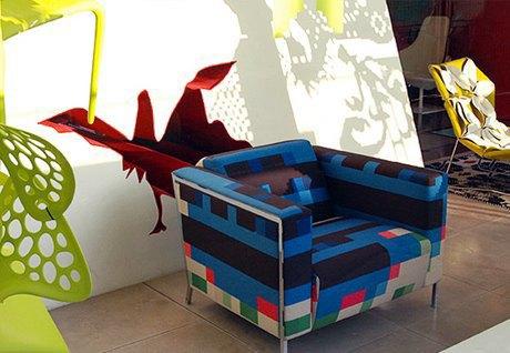 Глитч-мебель: красивые компьютерные ошибки в интерьере. Изображение № 6.