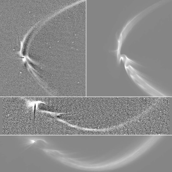 Учёные объяснили «шлейф» у спутника Сатурна . Изображение № 1.