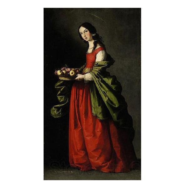 «Святая Доротея» Франсиско Сурбарана . Изображение № 12.