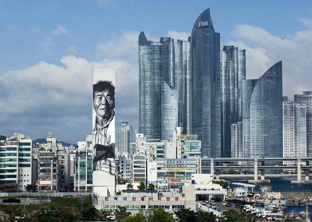 В Южной Корее появилось граффити с небоскреб. Изображение № 1.