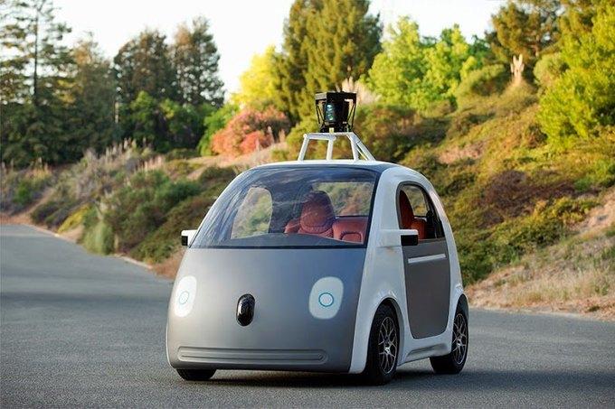 Показан прототип самоуправляемого автомобиля Google. Изображение № 1.