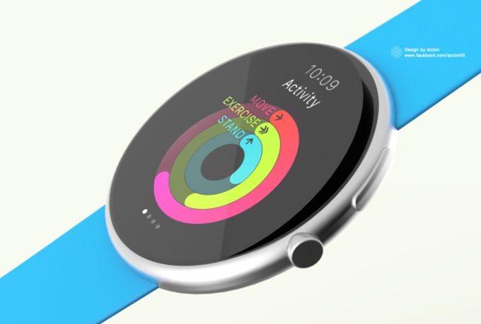 Концепт дня: круглые Apple Watch. Изображение № 1.