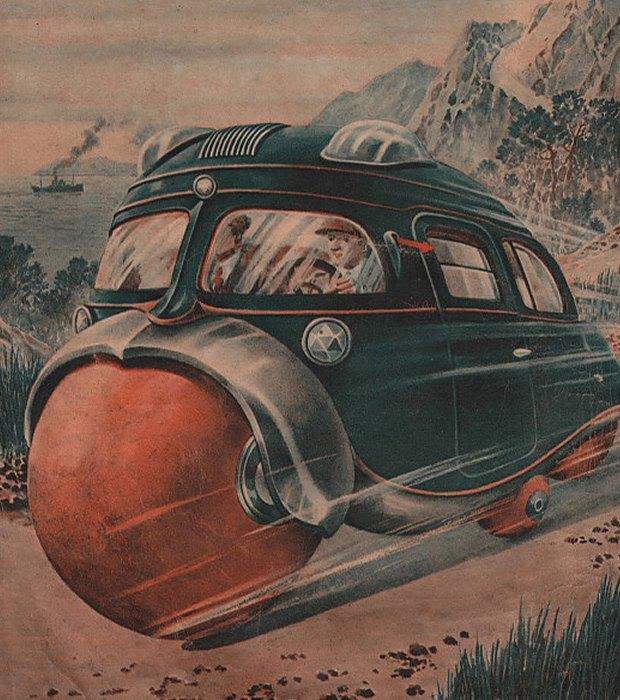 Транспорт будущего:  5 странных идей  из Японии 30-х. Изображение № 3.