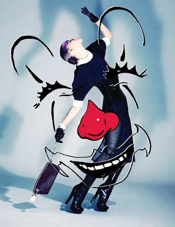 Съёмка: Марике Ле Ру в Louis Vuitton для 10. Изображение № 6.