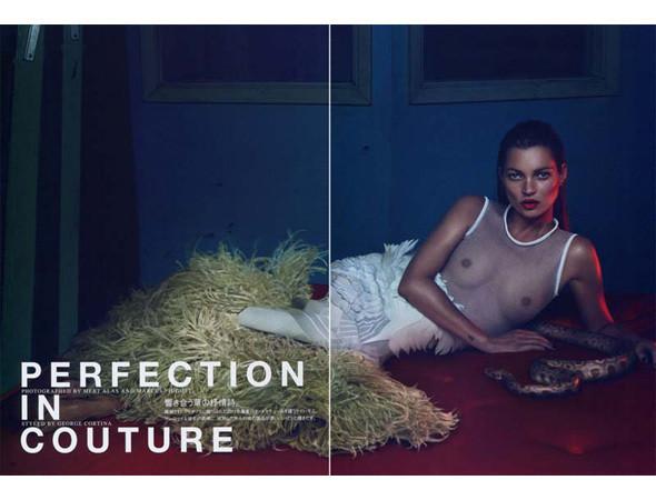 Съёмка Кейт Мосс для французского Vogue, май 2011. Изображение № 38.