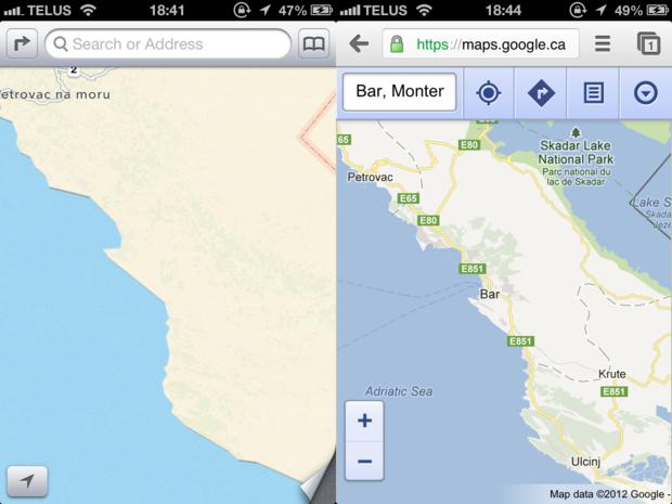 Что мы узнали из новых карт iOS 6 компании Apple. Изображение № 15.