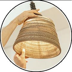 Как сделать из толстого картона абажур для лампы . Изображение № 3.