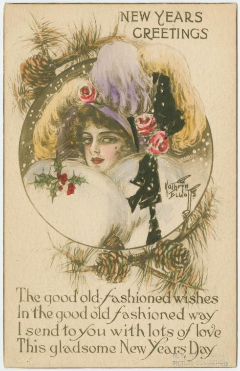 Новогодние открытки 1912 года. Изображение № 3.